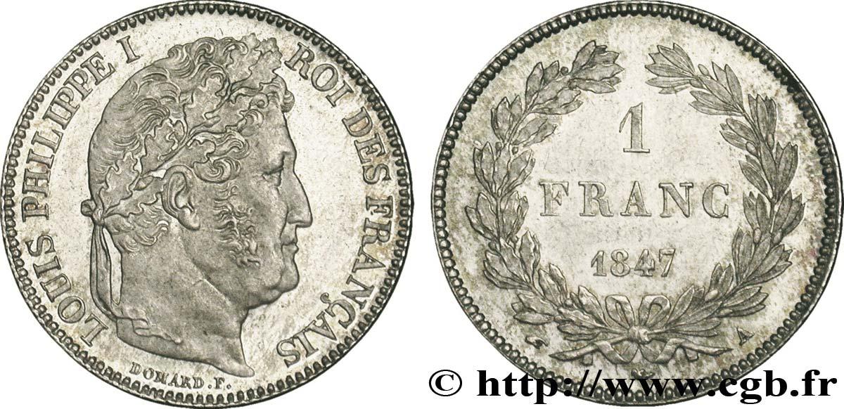 Piece De Monnaie 1 Franc Louis Philippe Couronne De Chene