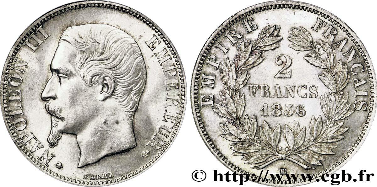 Pièce de monnaie 2 Francs NAPOLÉON III, TÊTE NUE