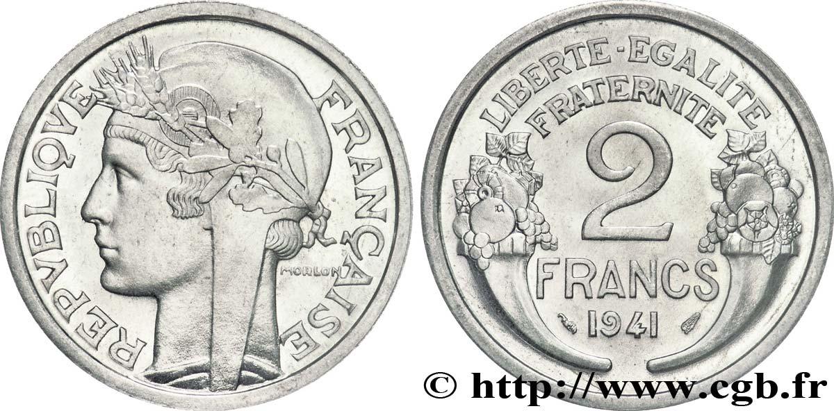 Pièce De Monnaie 2 Francs Morlon Aluminium