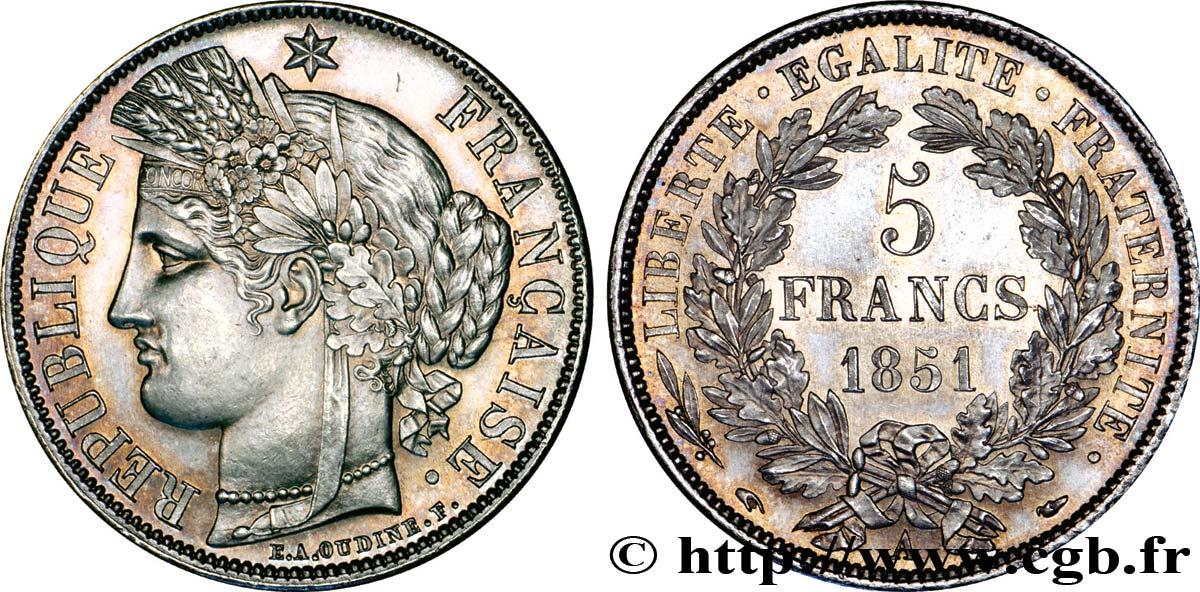 piece de monnaie 5 francs 1850