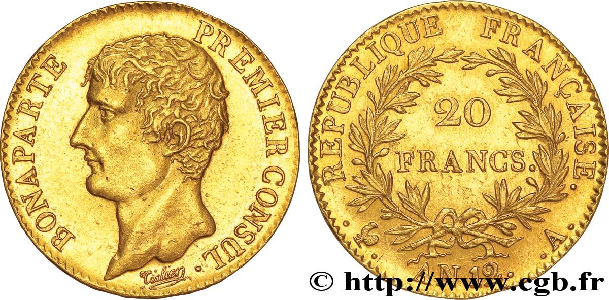 Pièce de monnaie 20 Francs BONAPARTE PREMIER CONSUL