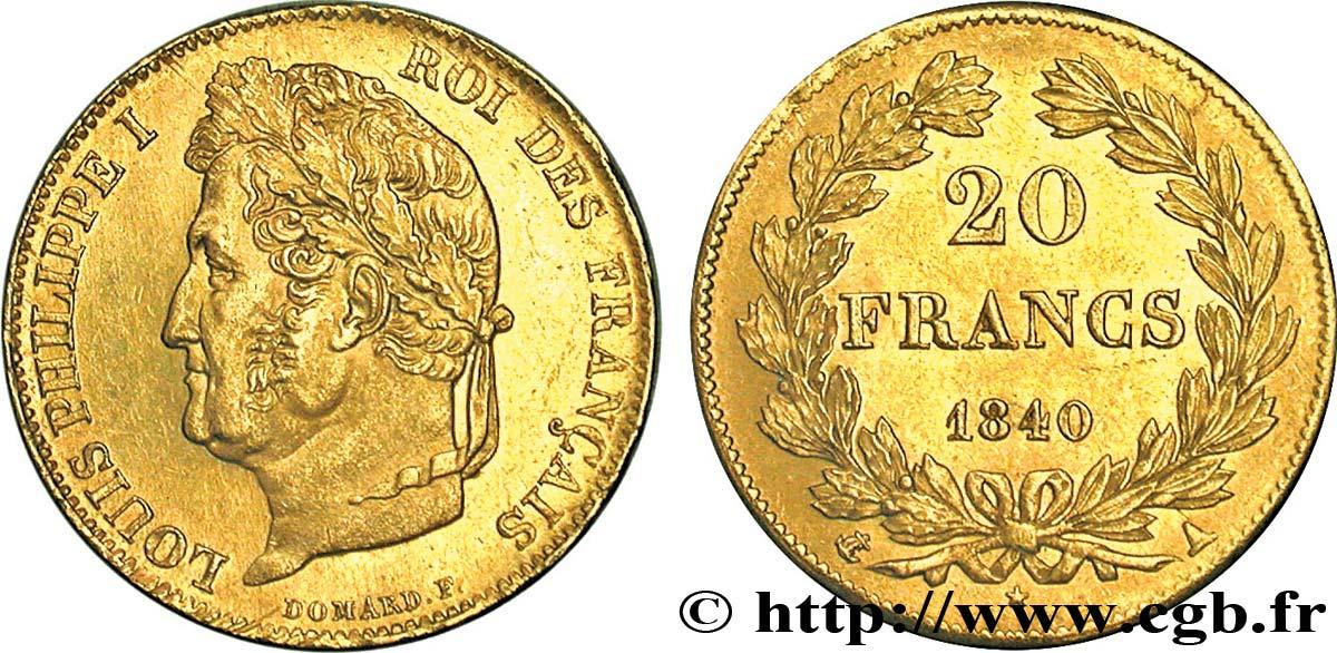 Piece De Monnaie 20 Francs Louis Philippe Domard