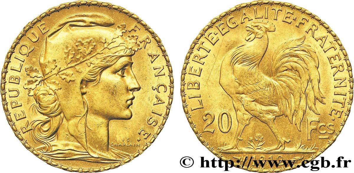 Piece De Monnaie 20 Francs Coq Tranche Inscrite Liberte Egalite